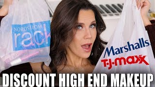 DISCOUNTED HIGH END MAKEUP HAUL   Marshalls, TJ Maxx and Nordstrom Rack