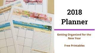 2018 Monthly Calendar Planner (free printable)