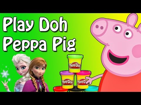 Play Doh Peppa Pig Suprise Eggs Disney Frozen Olaf Elsa Anna Suprise Eggs Mlp video