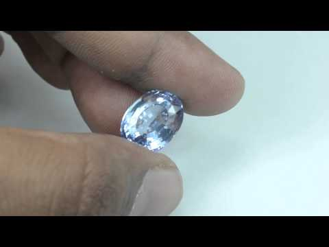 14.66Crt AIGS Certified Natural Unheated High Lusted Sparkling Ceylon Light Blue Sapphire
