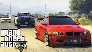 GTA V : FUGA ÉPICA DA POLICIA DE BMW M3 : GTA 5 MODS
