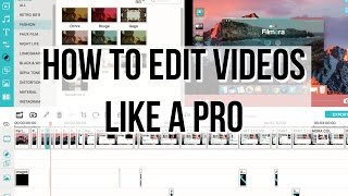 HOW TO EDIT YOUTUBE VIDEOS LIKE A PRO! with Filmora Editing Tutorial