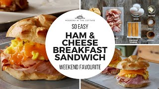 HAM AND CHEESE BREAKFAST SANDWICH | Quick! Easy! Tasty!