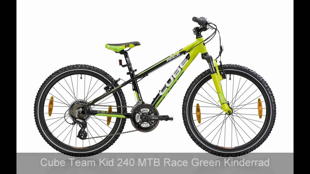 Cube Kid 200 Race Green Cube Team Kid 240 Mtb Race