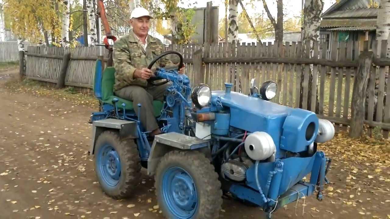 Полный привод на самодельный трактор 76