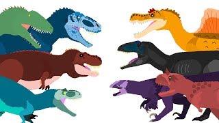 Dinossauros desenho animado   Dinossauro Rex e outros   Dinosaurs Cartoons - DinoMania