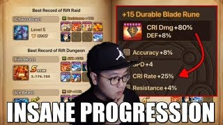 Unbelievable Farming Reappraisal Stones at 79 days for Summoners War Beginner Account