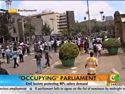 Civil Society Protest Against Mps Salary Demand