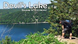 SUAB HMONG TRAVEL:  Taug kev nce roob rau ntawm Devil's Lake - Hiking at Devil's Lake, Wisconsin