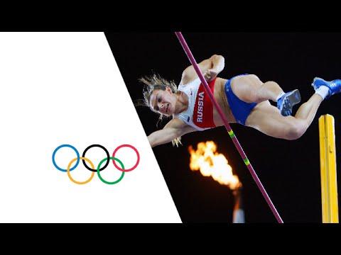 Yelena Isinbayeva Wins Gold In Pole Vault   Athens 2004 Olympics