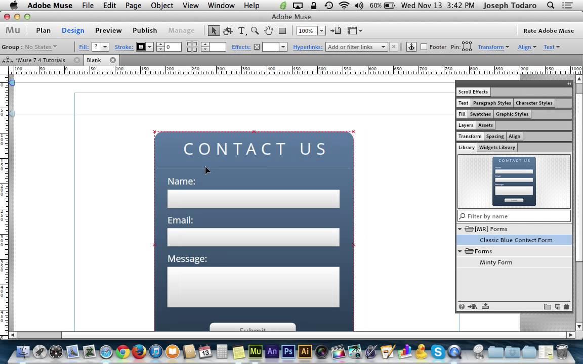 Adobe Muse Websites Adobe Muse cc 7.0 Tutorial
