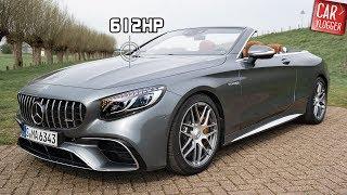 INSIDE the NEW Mercedes AMG S 63 4MATIC+ Cabriolet 2019   Interior Exterior DETAILS /w REVS