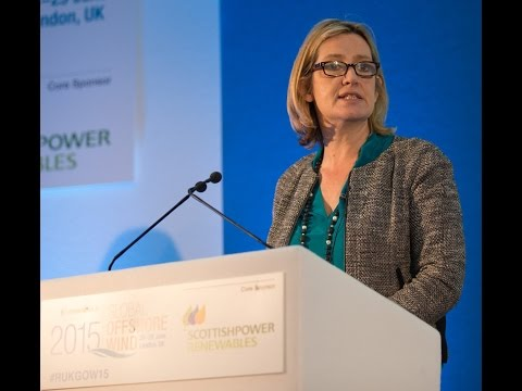 The Rt Hon Amber Rudd delivers Political Keynote at RenewableUK Global Offshore Wind 2015