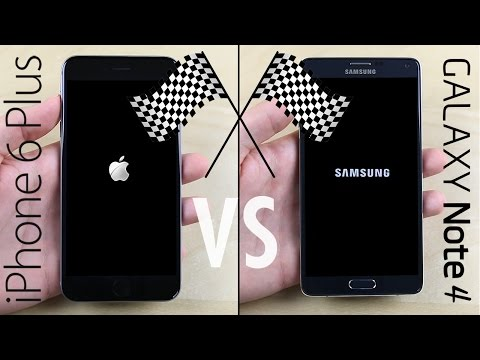Galaxy Note 4 vs. iPhone 6 Plus Speed Test