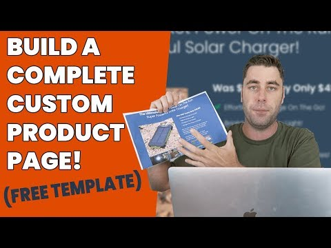 Create A High Converting Landing Page To Sell Your eCommerce Products! (Step By Step)