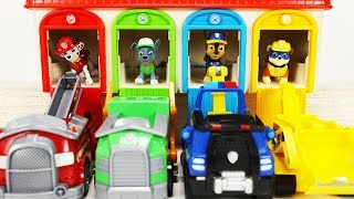 Paw Patrol Tayo Garage Surprise Toys - Learn Colors with Wrong Heads Dropping Color for Toddlers B18