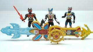 Mở hộp 3 Anh Em Siêu Nhân Kamen Rider đồ chơi mô hình