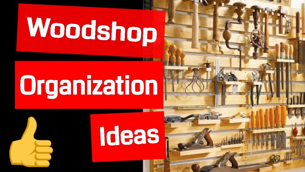 small woodworking shop organization