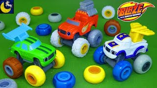 Blaze and the Monster Machines Toys Tune Up Tires Darington Pickle Chicken Cheese Bouncy Moon Tires