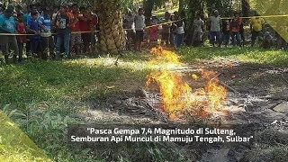 Semburan Api Muncul di Mamuju Tengah, Sulbar