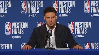 Klay Thompson Postgame Interview | Rockets vs Warriors Game 6
