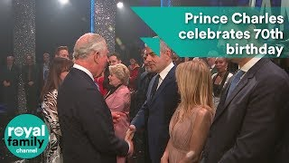 Prince Charles celebrates 70th birthday at star-studded comedy show