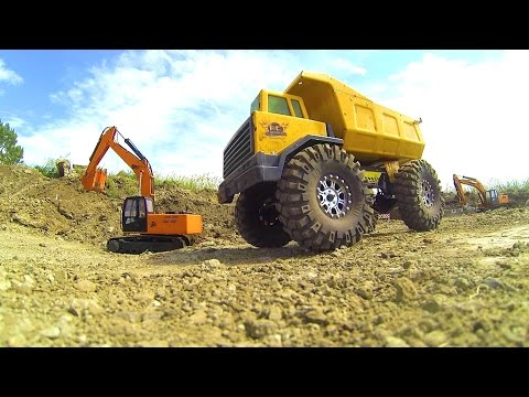 RC ADVENTURES: GOLD Mining & Pay Dirt: Radio Control Construction Site