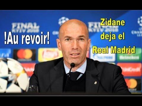 """!Última hora! Zidane deja el Real Madrid. Las razones de """"Zizou"""" thumbnail"""