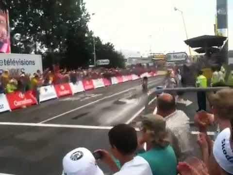 Tour de France 2010 timetrial finish Lance Armstrong, Cancellara & Contador