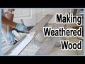 Lagu How To Make Weathered Wood Fast.  Distressed Wood In 2 Steps.