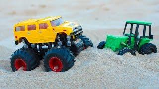 Машинки мультфильм - Мир машинок - 130 серия:  Монстр трек, Трактор. Мультфильм для детей.