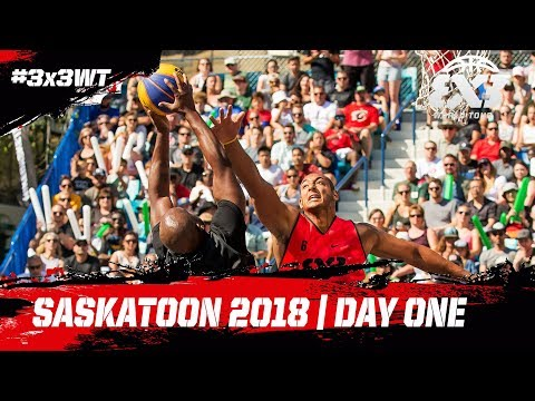 LIVE 🔴 - FIBA 3x3 World Tour - Saskatoon Masters 2018 | Day One