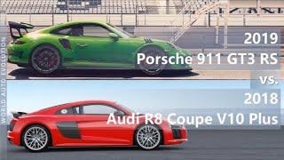 2019 Porsche 911 GT3 RS vs 2018 Audi R8 Coupe V10 Plus (technical comparison)