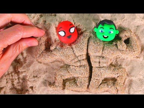 SUPERHERO BABIES BECOME VERY MUSCULAR ❤ Superhero Babies Play Doh Cartoons For Kids