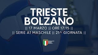 Serie A1M [21^]: Trieste - Bozen 28-35
