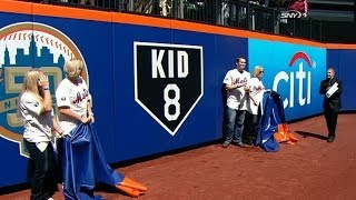 ATL@NYM: Mets honor the late Gary Carter before game