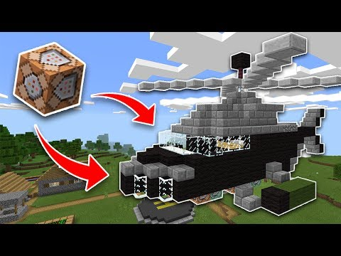WORKING HELICOPTER Using COMMAND BLOCKS in Minecraft PE 1.1!! (Pocket Edition)