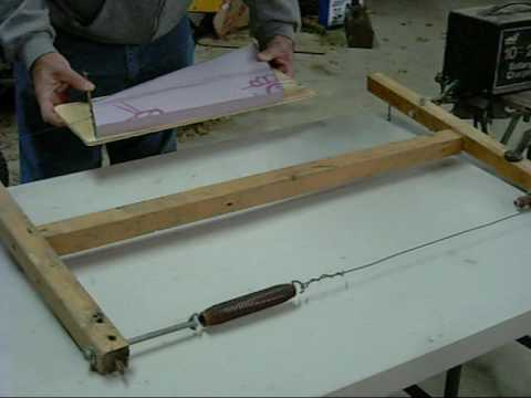 Cutting Foam Wings with a Hot Wire Powered by a Battery Charger