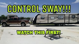Sway when towing an RV? Watch this!