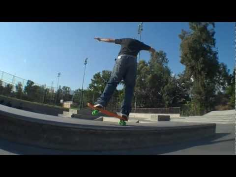 Penny board at skatepark