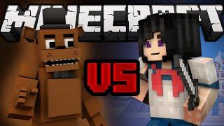 Freddy Fazbear vs. Yandere Chan (Minecraft Machinima)
