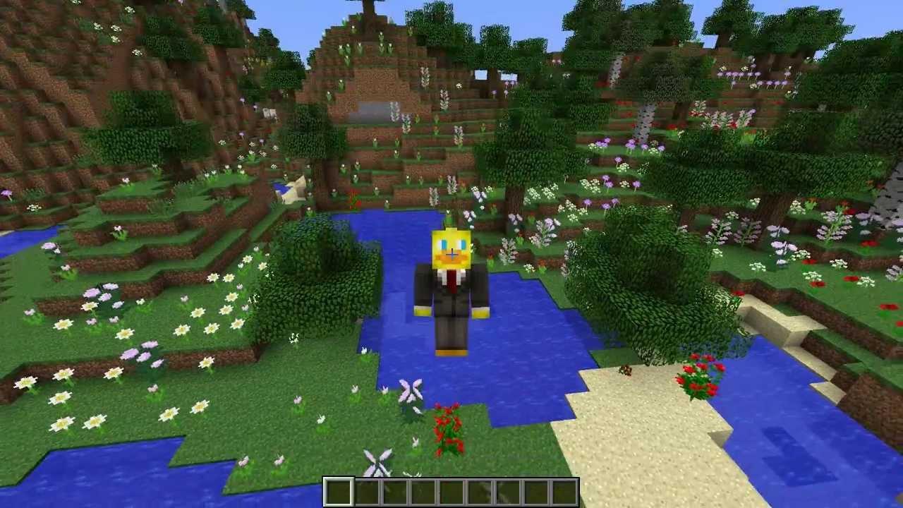 Minecraft 1 7 Snapshot Flower Forest Biome Absolutely