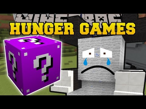Minecraft: SAD PANDA LAND HUNGER GAMES - Lucky Block Mod - Modded Mini-Game