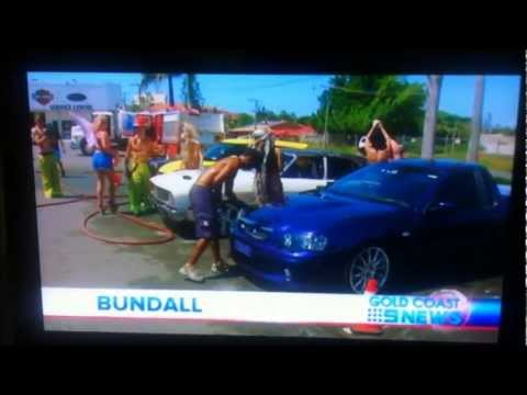 Channel 9 Coverage - Bikini Carwash Fundraiser
