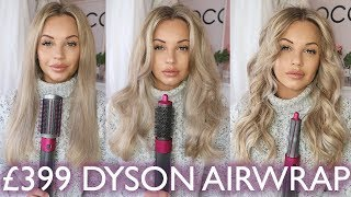 DYSON AIRWRAP 3 WAYS   CURL LASTING TEST & Q&A   Lucy Jessica Carter