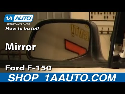 How To Install Replace Side Rear View Manual Mirror Ford F-150 92-96 1AAuto.com