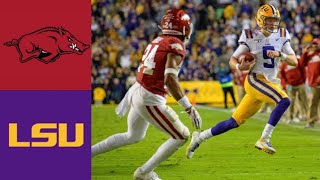 Arkansas vs #1 LSU Highlights | NCAAF Week 13 | College Football Highlights