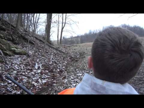 West Virginia youth doe hunt in late December 2012. 12 year old Dan Cooley and his brother Isaac kill does with a Stevens Model 200 .223.