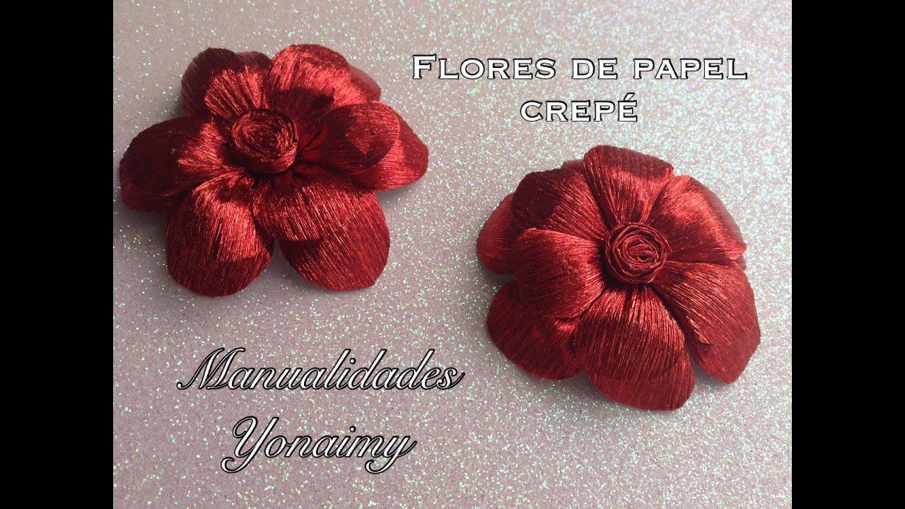 Flores hechas con papel crepe crepe paper flowers youtube - Videos de como hacer crepes ...
