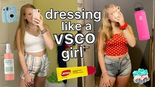 dressing like a VSCO girl for a week